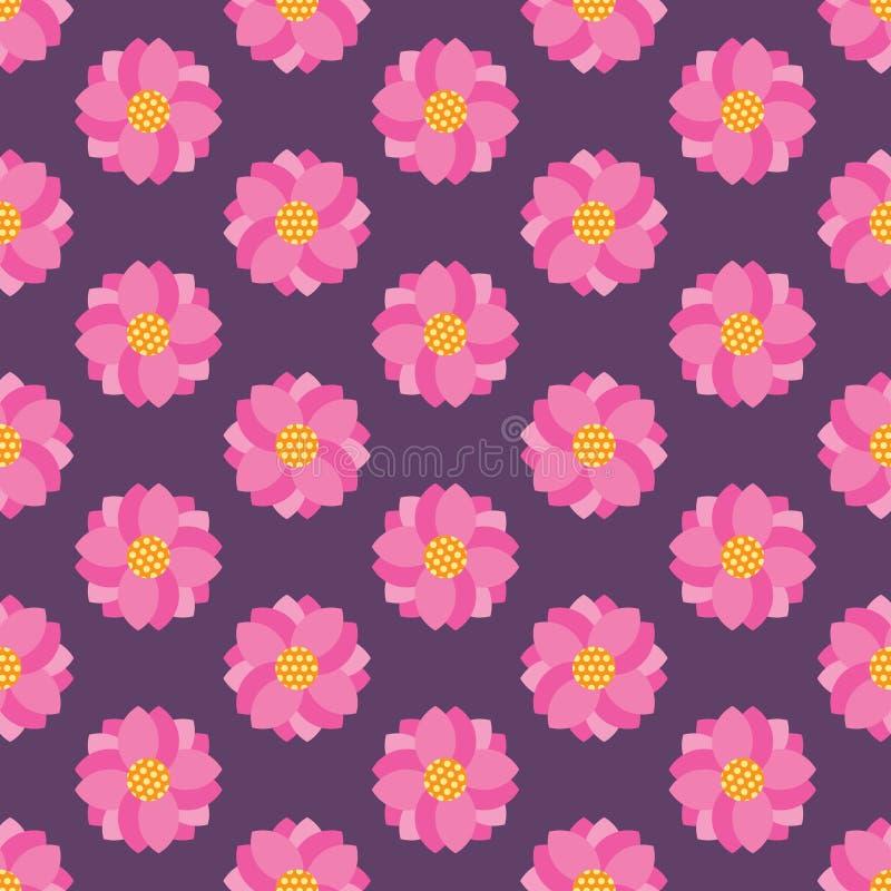 πρότυπο λουλουδιών άνευ ραφής απεικόνιση αποθεμάτων