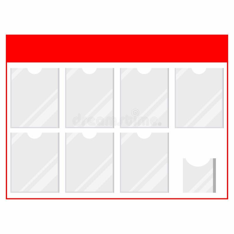 Πρότυπο πίνακα πληροφοριών πλαστικών πελατών με κατόχους εγγράφων για διαφημίσεις σε καταστήματα απομονωμένα σε λευκό φόντο διανυσματική απεικόνιση