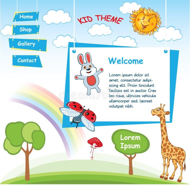 Πρότυπο παιδιών κινούμενων σχεδίων απεικόνιση αποθεμάτων