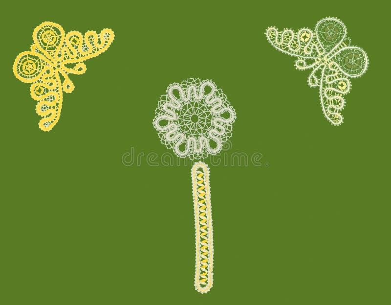πρότυπο πεταλούδων σελιδοδεικτών στοκ εικόνα