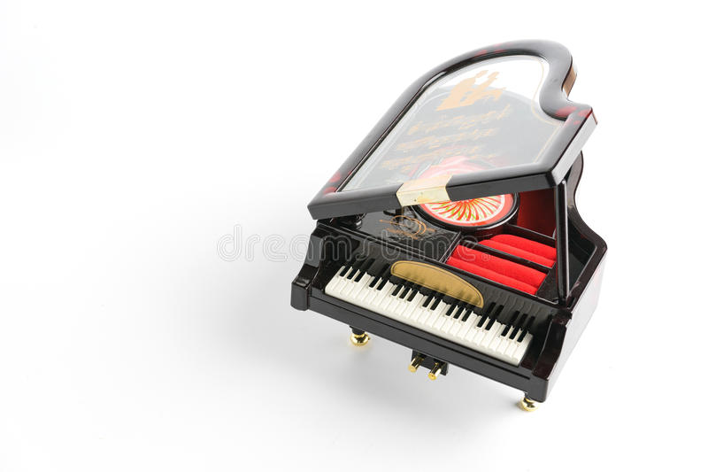 Πρότυπο πιάνων που απομονώνεται στο λευκό στοκ φωτογραφία