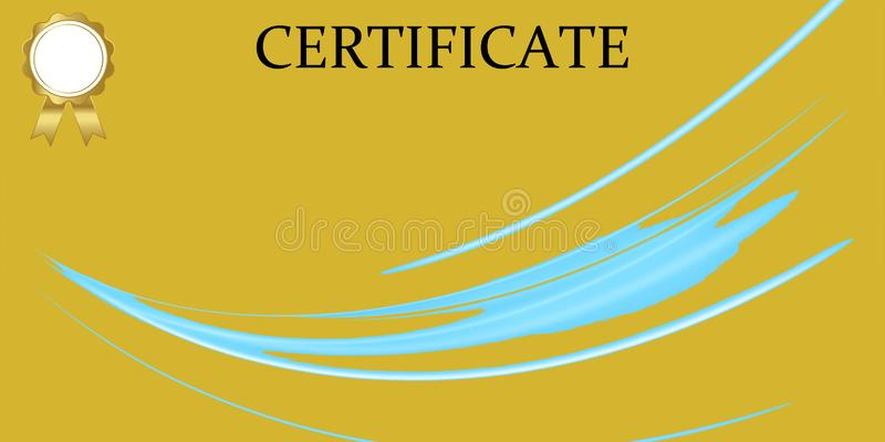 Πρότυπο πιστοποιητικών με την πολυτέλεια και το σύγχρονο σχέδιο, δίπλωμα r απεικόνιση αποθεμάτων