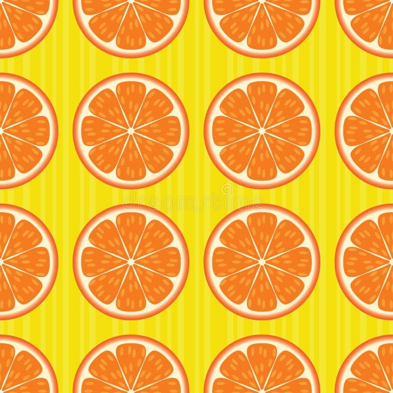 πρότυπο πορτοκαλιών άνευ &r διανυσματική απεικόνιση