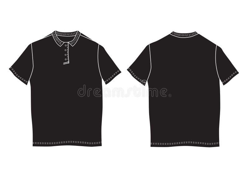 Πρότυπο πουκάμισων πόλο Μπροστινές και πίσω απόψεις ελεύθερη απεικόνιση δικαιώματος