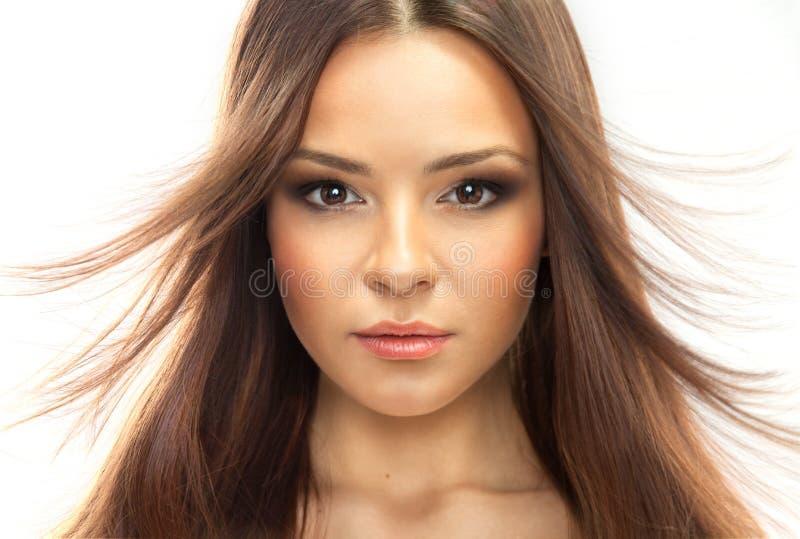 Πρότυπο πρόσωπο γυναικών ομορφιάς. στοκ εικόνες με δικαίωμα ελεύθερης χρήσης