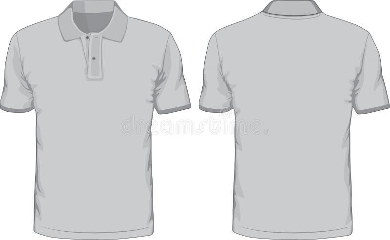 Πρότυπο πόλο-πουκάμισων ατόμων Μπροστινές και πίσω απόψεις ελεύθερη απεικόνιση δικαιώματος