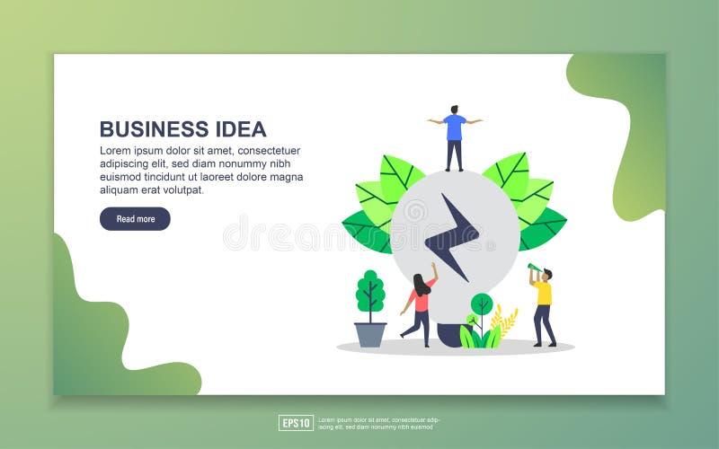 Πρότυπο σελίδας έναρξης επιχειρηματικής ιδέας Σύγχρονη έννοια επίπεδης σχεδίασης της σχεδίασης ιστοσελίδας για ιστοσελίδα και κιν διανυσματική απεικόνιση