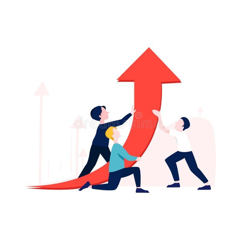 Πρότυπο σελίδας επέκτασης επιχειρηματικής ηγεσίας Πρόκληση ομάδας διευθυντή για οικονομικά κέρδη απεικόνιση αποθεμάτων