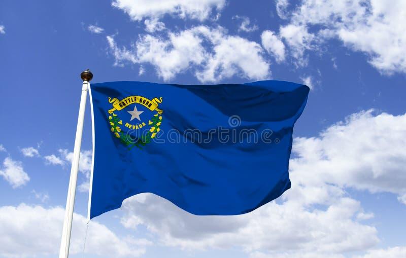 Πρότυπο σημαιών της Νεβάδας στον αέρα ελεύθερη απεικόνιση δικαιώματος