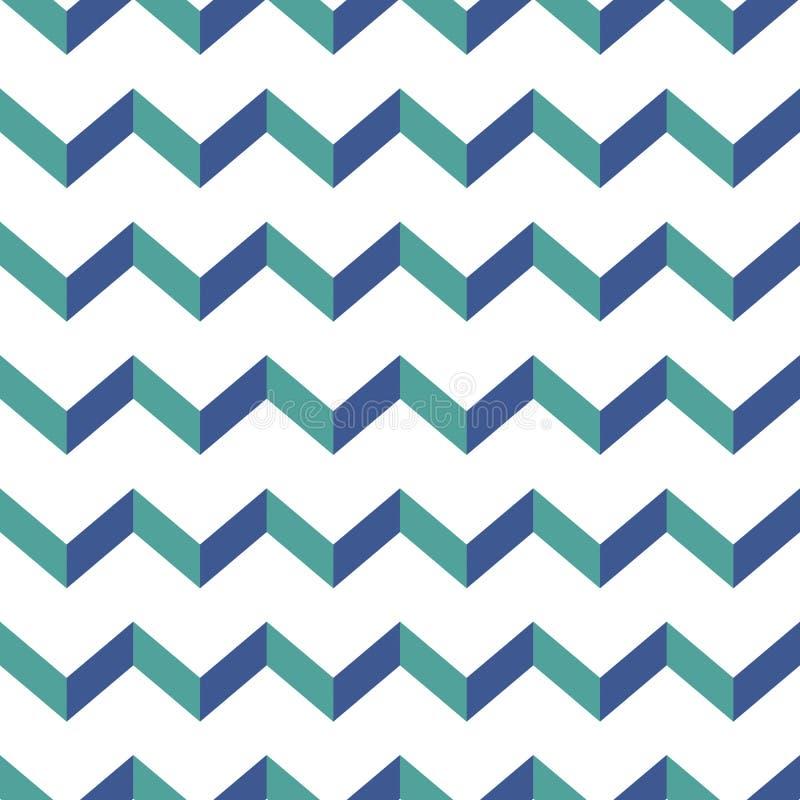 πρότυπο σιριτιών άνευ ραφής Ζωηρόχρωμο μπλε και πράσινο τρέκλισμα στο άσπρο υπόβαθρο ελεύθερη απεικόνιση δικαιώματος