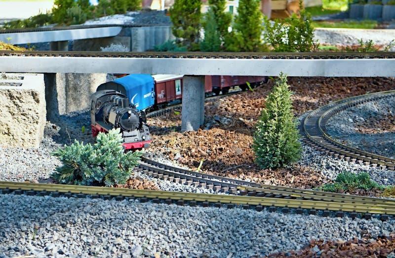 Πρότυπο σιδηροδρόμων στο πάρκο MiniSlovakia τον Ιαν. Liptovsky στοκ εικόνα