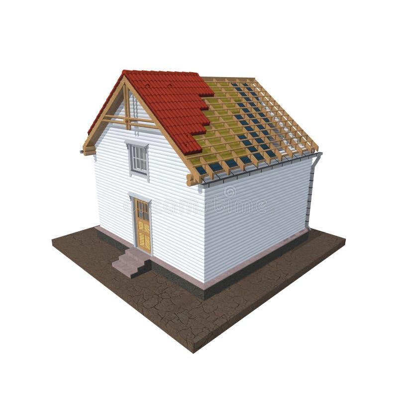 Πρότυπο σπίτι αρχιτεκτονικής διανυσματική απεικόνιση