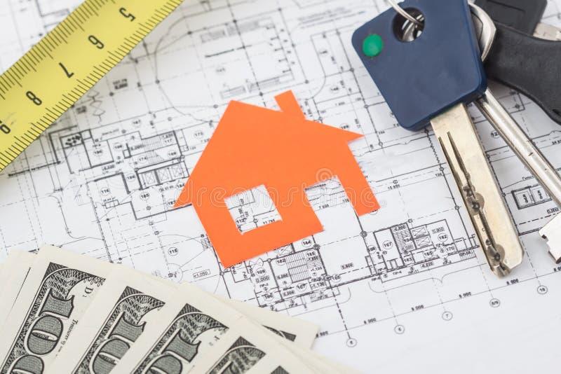 Download Πρότυπο σπίτι στο σχέδιο κατασκευής Στοκ Εικόνα - εικόνα από όνειρο, σύμβαση: 62723079