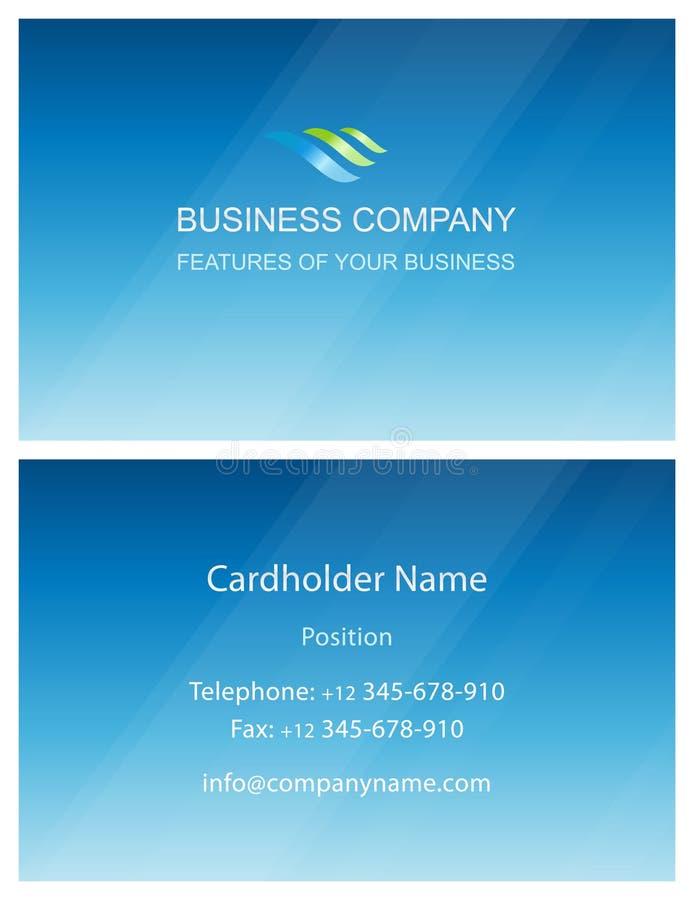 Πρότυπο στοιχείων σχεδίου καρτών επιχειρησιακής επίσκεψης απεικόνιση αποθεμάτων