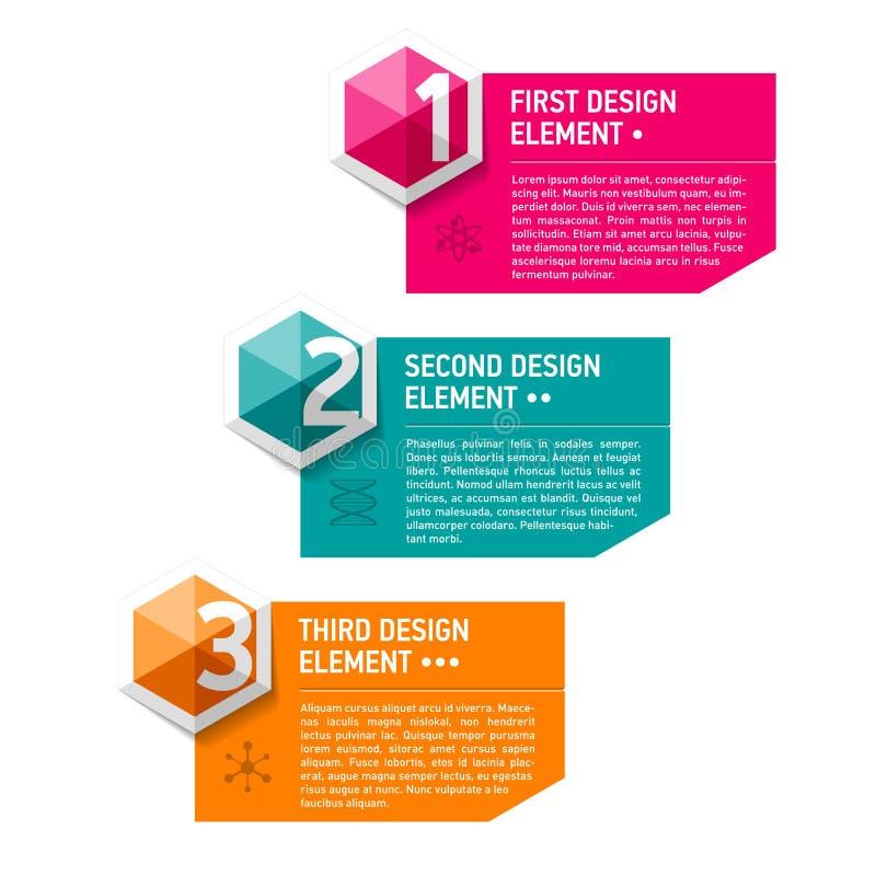 Πρότυπο στοιχείων σχεδίου διανυσματική απεικόνιση