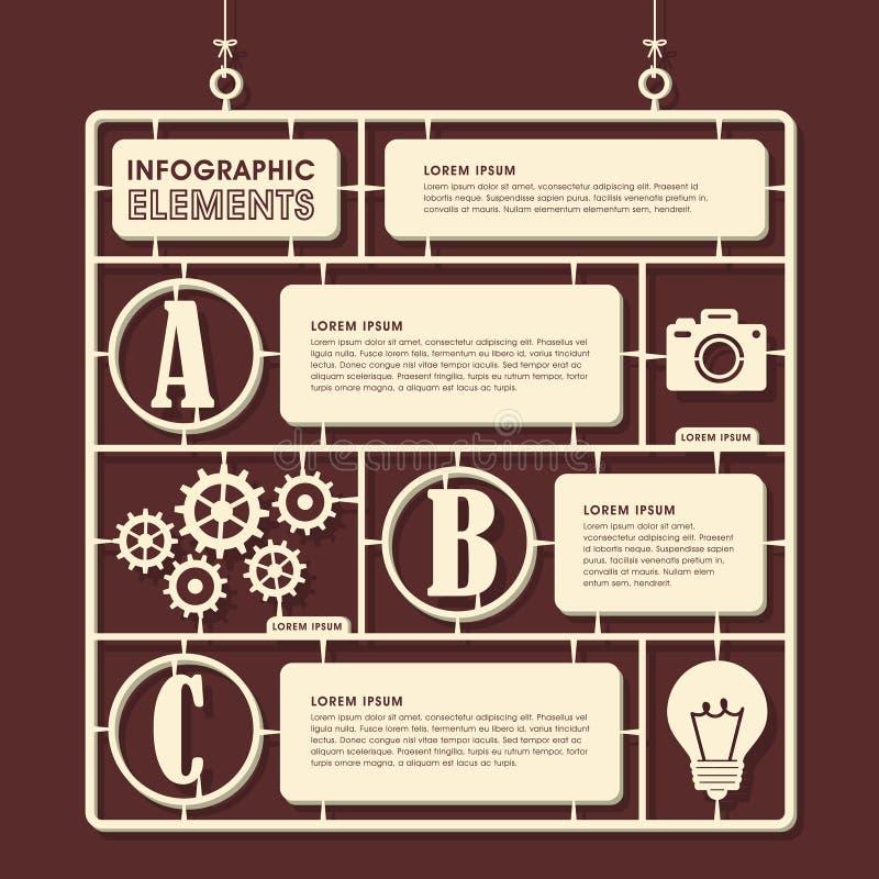 Πρότυπο σχέδιο infographics παιχνιδιών απεικόνιση αποθεμάτων