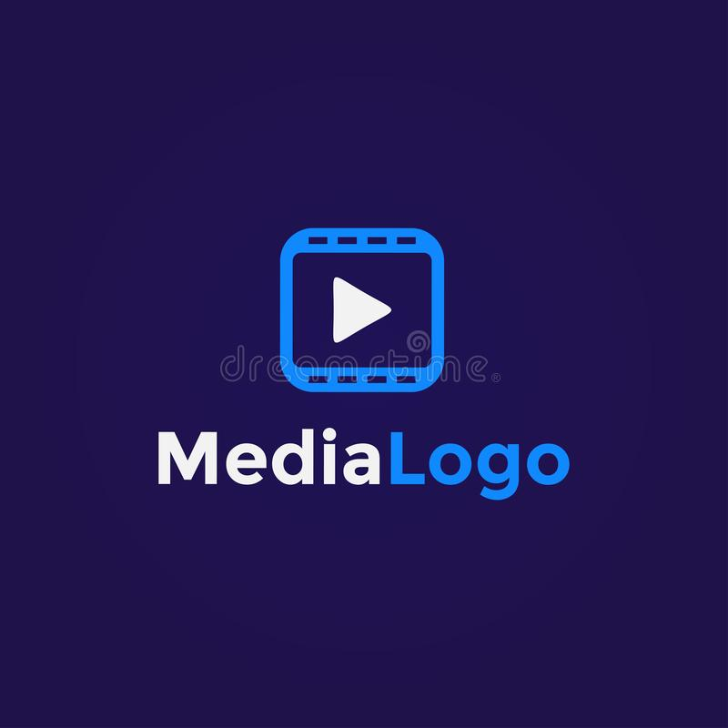 Πρότυπο σχεδίασης απλού λογότυπου πολυμέσων στοκ εικόνες