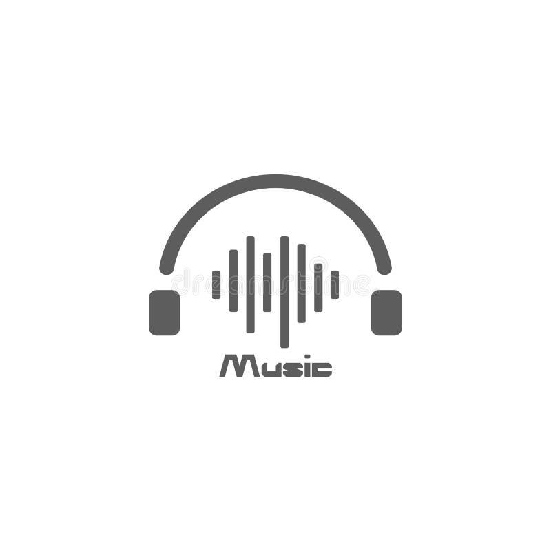 Πρότυπο σχεδίασης διανυσματικού λογότυπου ακουστικής μουσικής εικονίδιο ακουστικού ήχος διανυσματική απεικόνιση