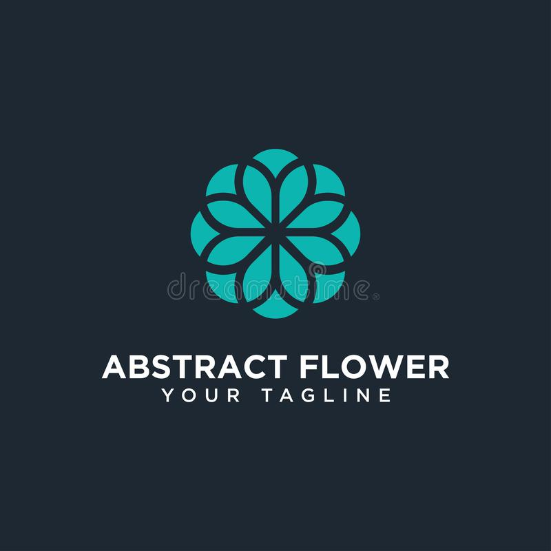 Πρότυπο σχεδίασης λογότυπου με αφηρημένο λουλούδι στοκ φωτογραφίες