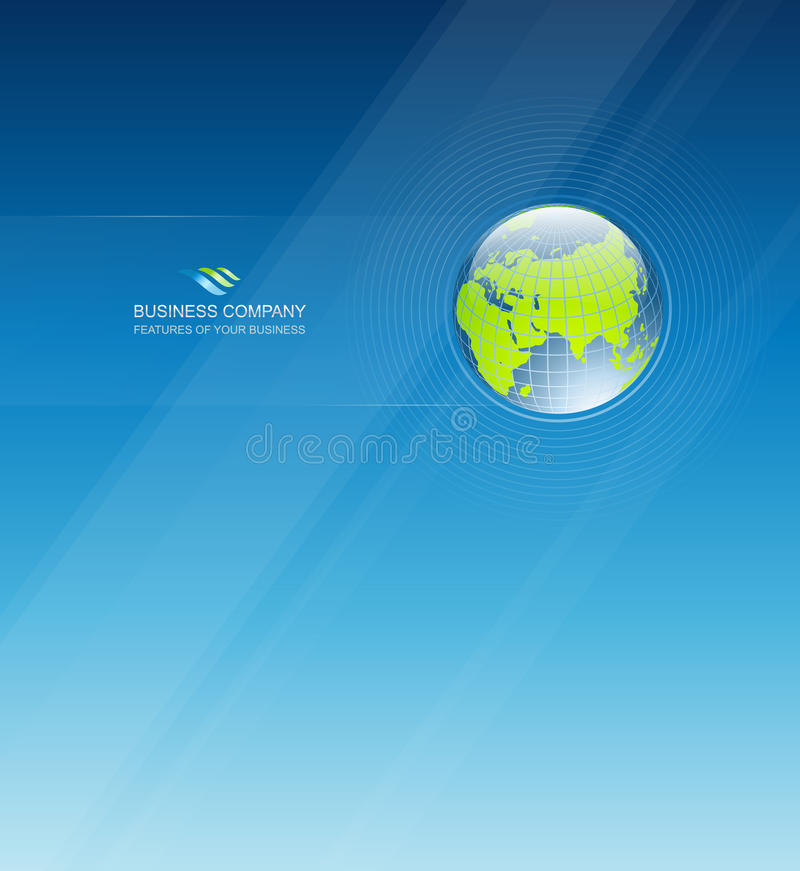 Πρότυπο σχεδίου επιχειρησιακής εταιρικό ταυτότητας απεικόνιση αποθεμάτων
