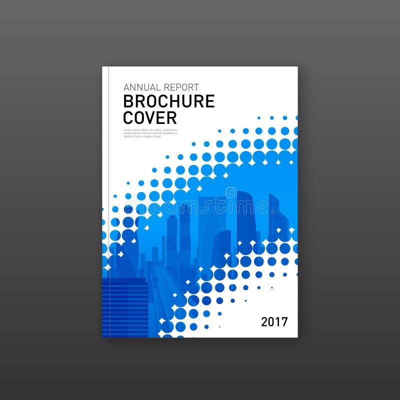 Πρότυπο σχεδίου κάλυψης φυλλάδιων για την επιχείρηση κατασκευής ή τεχνολογίας απεικόνιση αποθεμάτων
