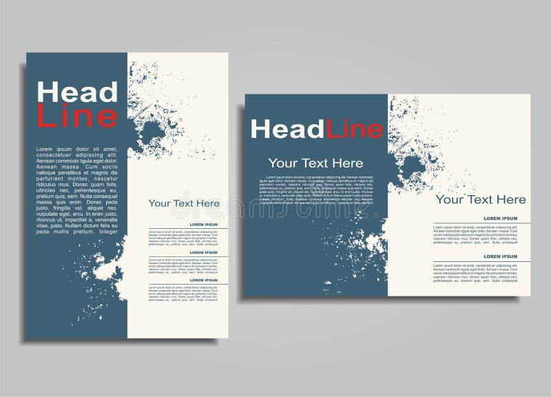 Πρότυπο σχεδίου κάλυψης φυλλάδιων λευκωμάτων βιβλίων επίσης corel σύρετε το διάνυσμα απεικόνισης απεικόνιση αποθεμάτων