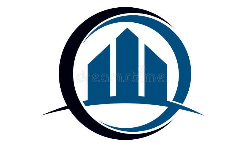 Πρότυπο σχεδίου λογότυπων ακίνητων περιουσιών διανυσματική απεικόνιση