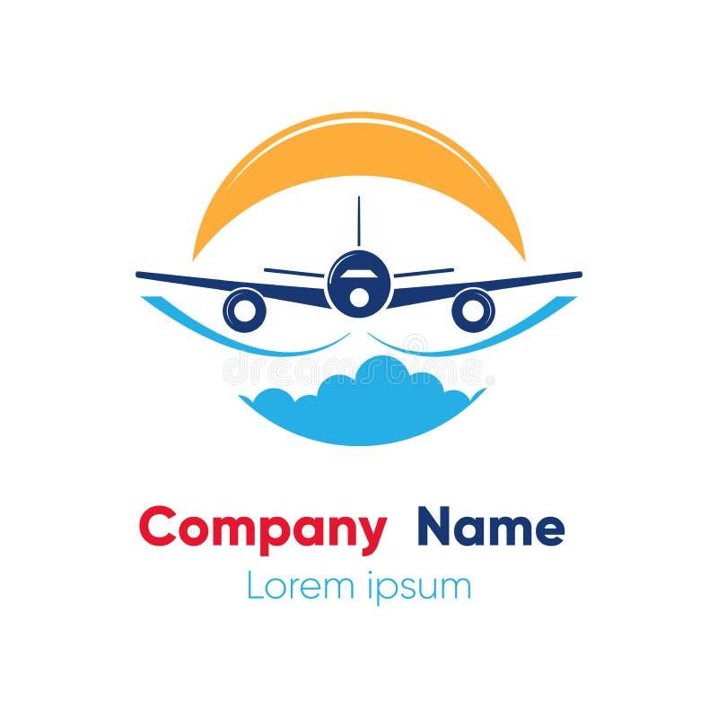 Πρότυπο σχεδίου λογότυπων για τις αφηρημένες αερογραμμές, εισιτήρια αεροπλάνων, ταξιδιωτικά γραφεία r στοκ εικόνα με δικαίωμα ελεύθερης χρήσης