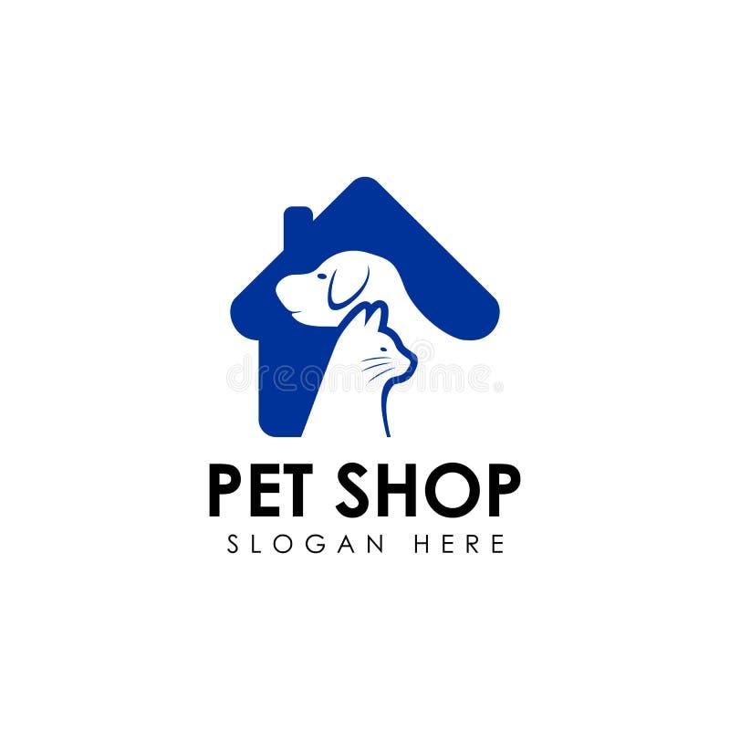 Πρότυπο σχεδίου λογότυπων καταστημάτων της Pet διανυσματικό εικονίδιο σχεδίου εγχώριων λογότυπων κατοικίδιων ζώων διανυσματική απεικόνιση