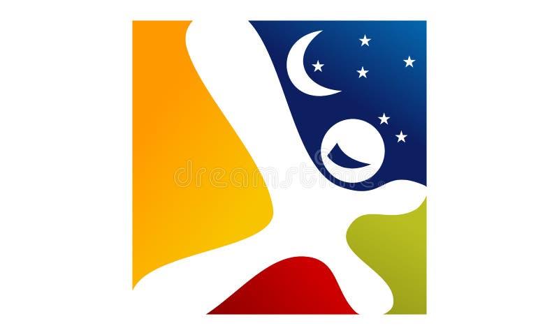 Πρότυπο σχεδίου λογότυπων ονείρων διανυσματική απεικόνιση