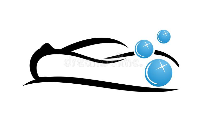 Πρότυπο σχεδίου λογότυπων πλυσίματος αυτοκινήτων απεικόνιση αποθεμάτων