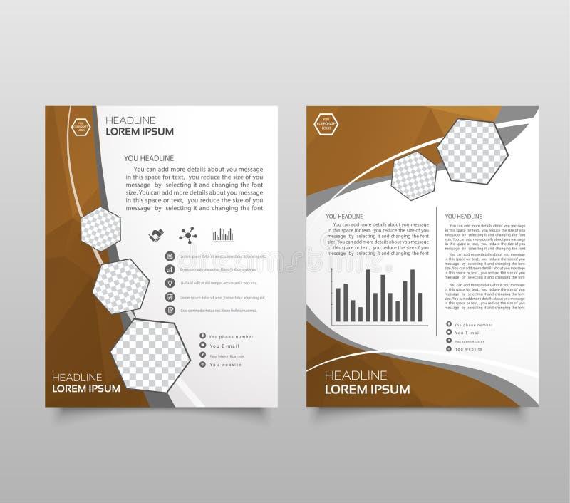 Πρότυπο σχεδίου σχεδιαγράμματος φυλλάδιων ετήσια εκθέσεων, advertisi φυλλάδιων απεικόνιση αποθεμάτων