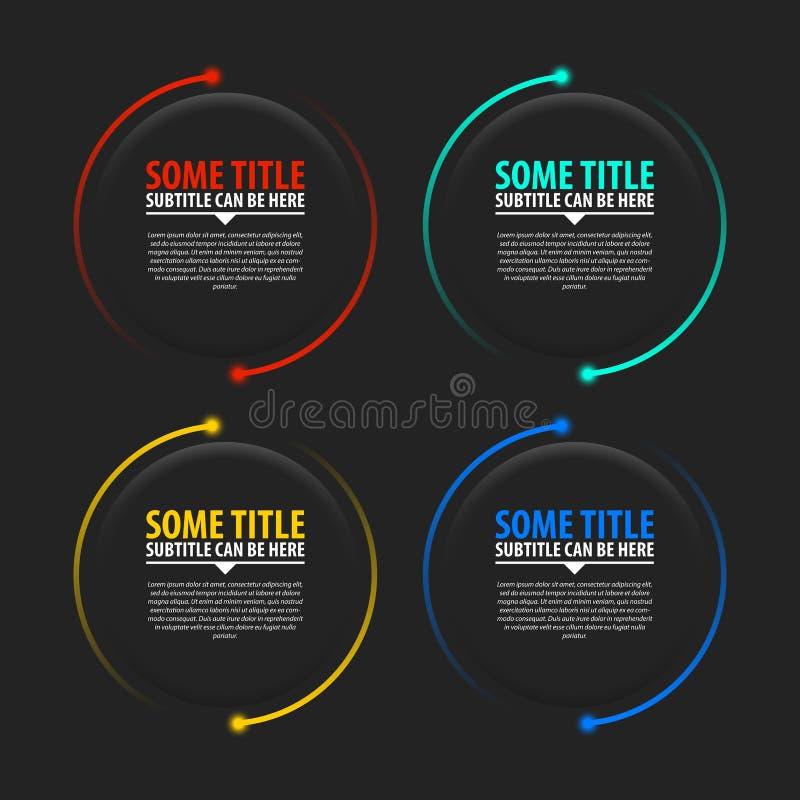 Πρότυπο σχεδίου Infographic Δημιουργική έννοια με 4 βήματα ελεύθερη απεικόνιση δικαιώματος