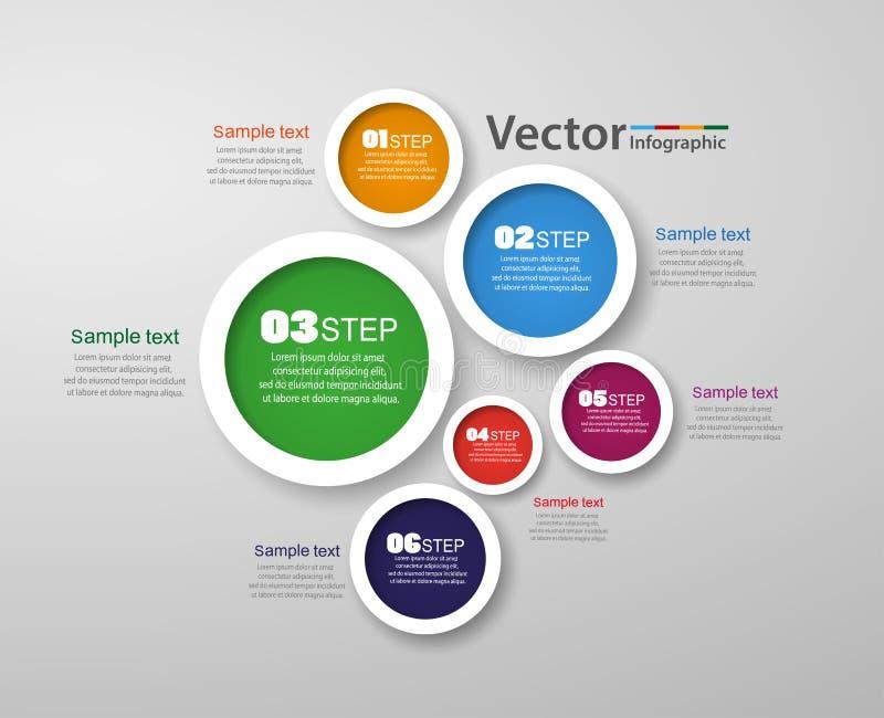 Πρότυπο σχεδίου Infographic που μπορεί να χρησιμοποιηθεί για το σχεδιάγραμμα ροής της δουλειάς, διάγραμμα, επιλογές αριθμού, σχέδ απεικόνιση αποθεμάτων