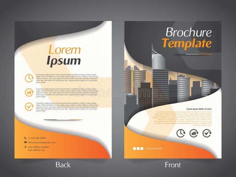 Πρότυπο σχεδιαγράμματος σχεδίου ιπτάμενων επιχειρησιακών φυλλάδιων - διανυσματικό Eps10 ελεύθερη απεικόνιση δικαιώματος