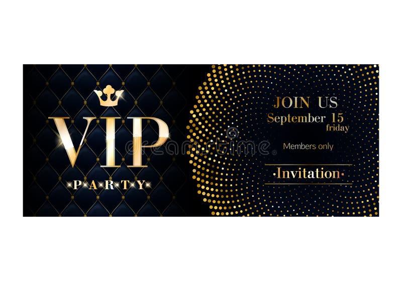 Πρότυπο σχεδίου ασφαλίστρου καρτών VIP πρόσκλησης απεικόνιση αποθεμάτων