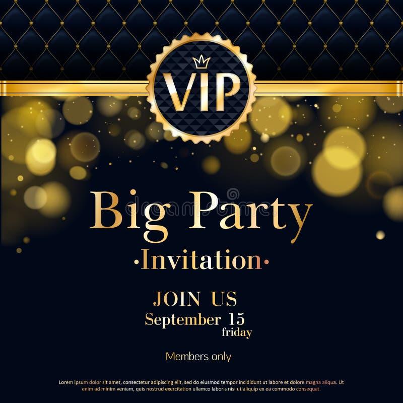 Πρότυπο σχεδίου ασφαλίστρου καρτών VIP πρόσκλησης ελεύθερη απεικόνιση δικαιώματος
