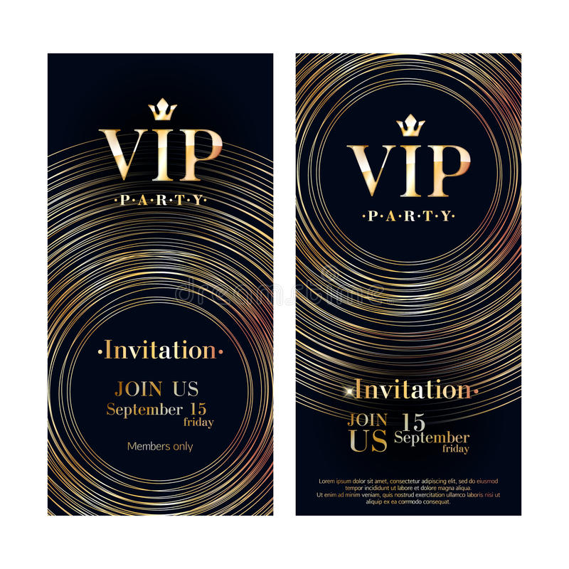 Πρότυπο σχεδίου ασφαλίστρου καρτών VIP πρόσκλησης διανυσματική απεικόνιση
