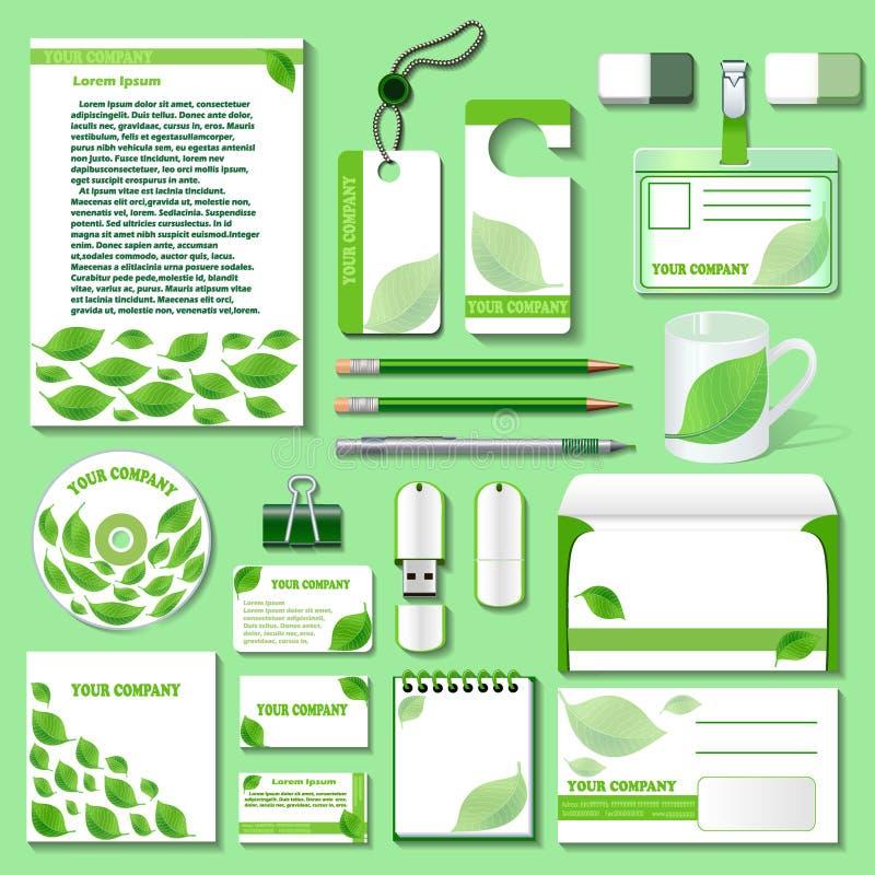 Πρότυπο σχεδίου για τα επιχειρησιακά αντικείμενα από ένα περιβαλλοντικό θέμα απεικόνιση αποθεμάτων
