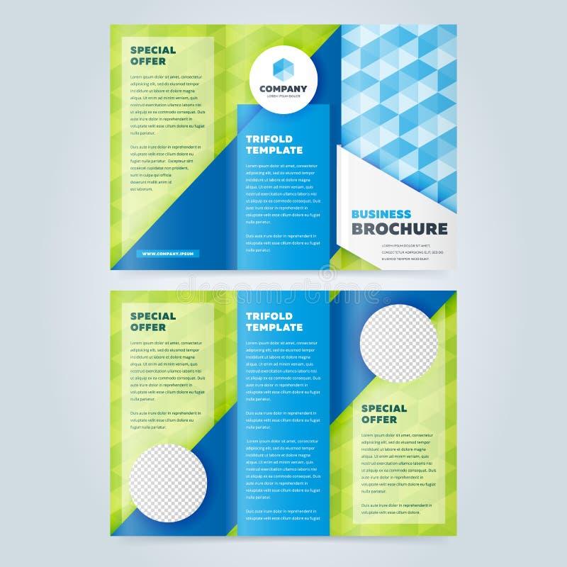 Πρότυπο σχεδίου επιχειρησιακών φυλλάδιων Trifold απεικόνιση αποθεμάτων