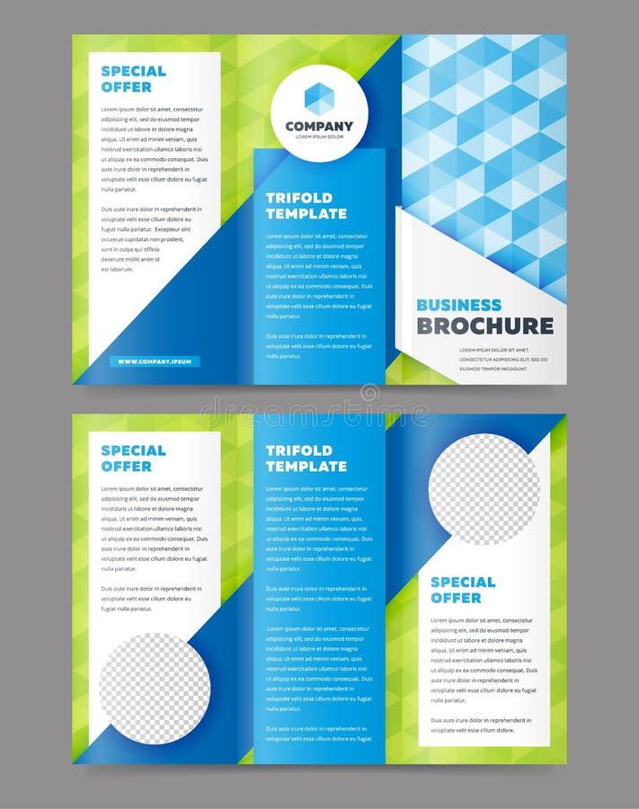 Πρότυπο σχεδίου επιχειρησιακών φυλλάδιων Trifold ελεύθερη απεικόνιση δικαιώματος