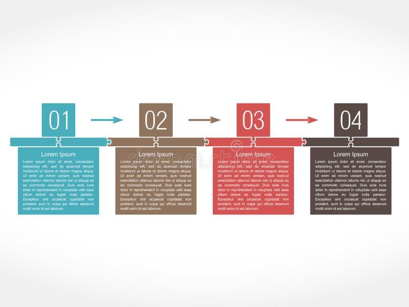 Πρότυπο σχεδίου με τέσσερα στοιχεία ελεύθερη απεικόνιση δικαιώματος