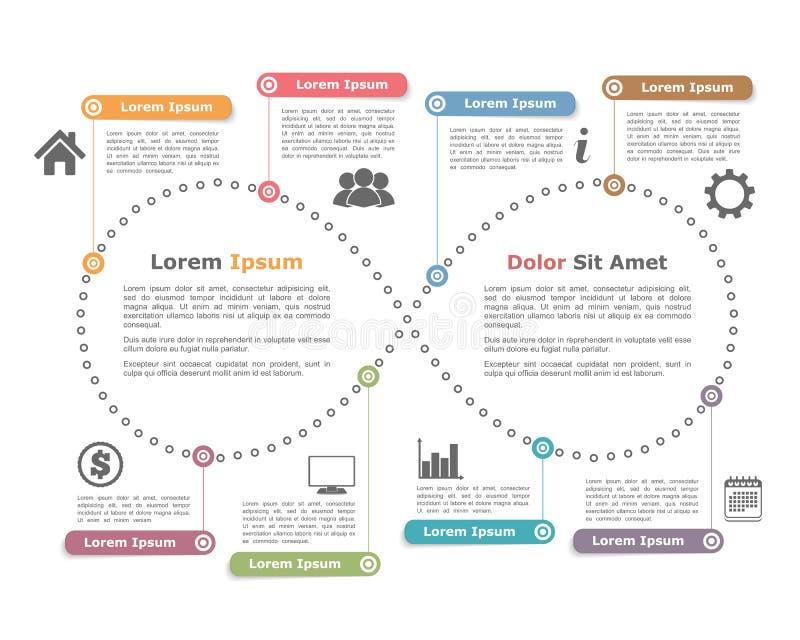 Πρότυπο σχεδίου με τη μορφή απείρου απεικόνιση αποθεμάτων