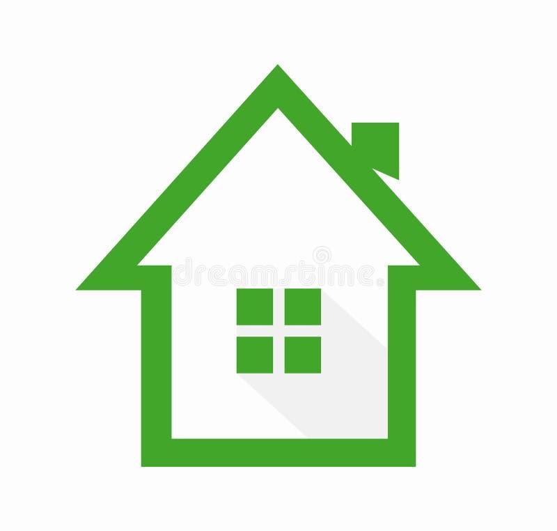 Πρότυπο σχεδίου λογότυπων σπιτιών απεικόνιση αποθεμάτων
