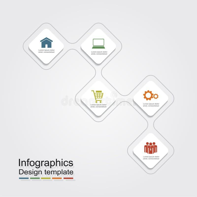 Πρότυπο σχεδίου Infographic επίσης corel σύρετε το διάνυσμα απεικόνισης απεικόνιση αποθεμάτων