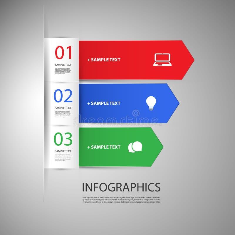 Πρότυπο σχεδίου Infographic με τα βέλη διανυσματική απεικόνιση