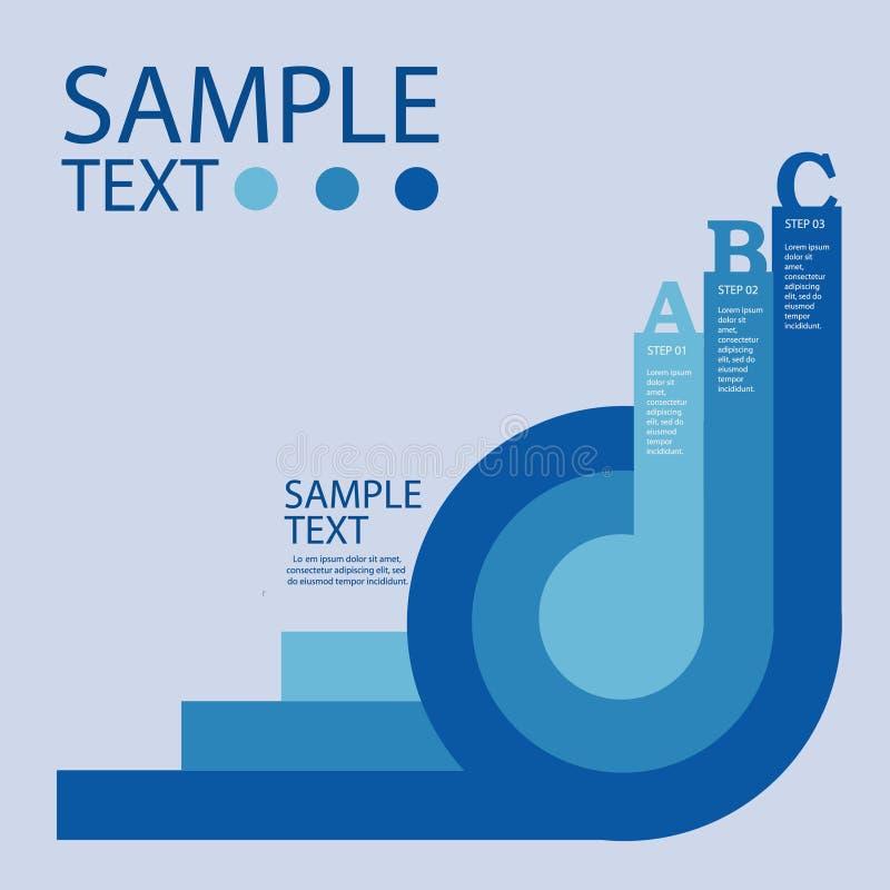 Πρότυπο σχεδίου Infographic με τα γραφικά στοιχεία καθορισμένα την απεικόνιση Διανυσματικό αρχείο στα στρώματα για την εύκολη έκδ ελεύθερη απεικόνιση δικαιώματος
