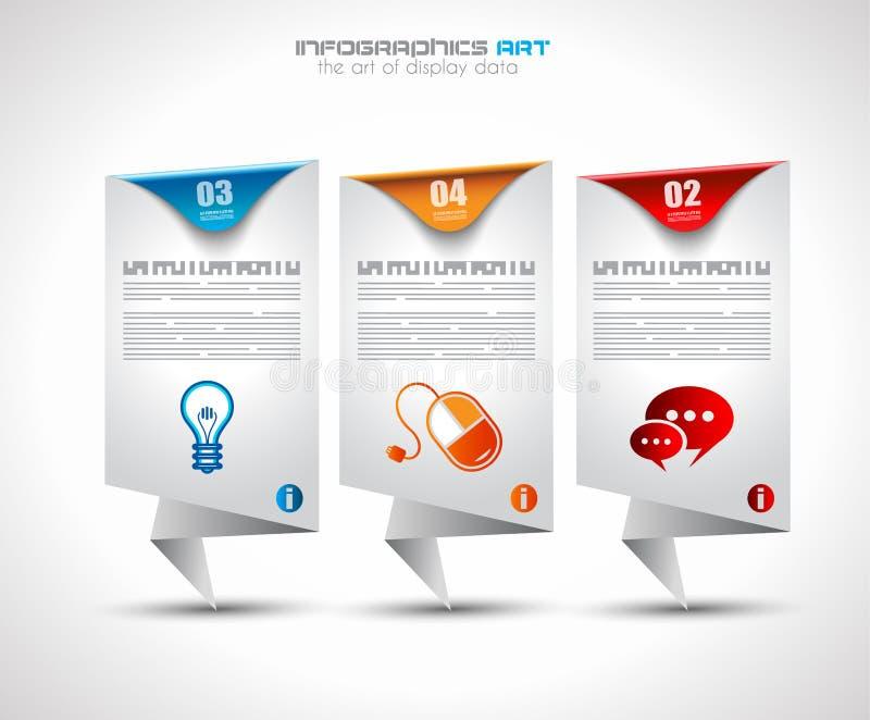 Πρότυπο σχεδίου Infographic με τις ετικέττες εγγράφου διανυσματική απεικόνιση