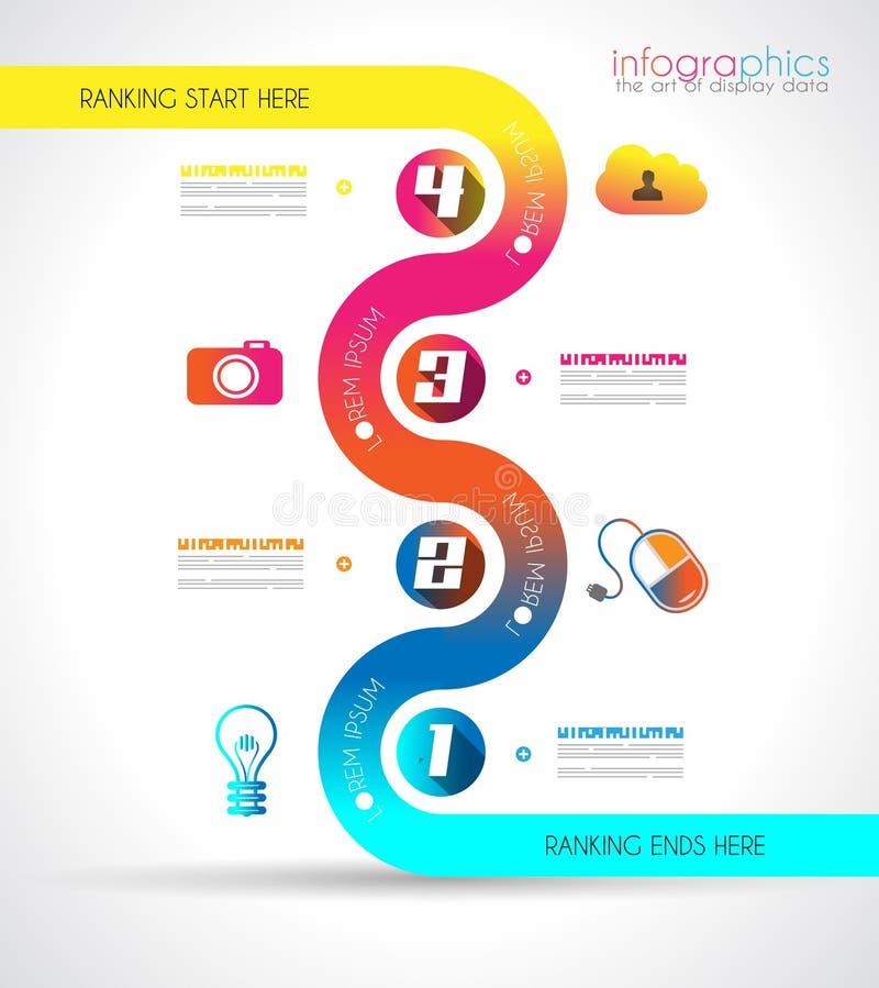 Πρότυπο σχεδίου Infographic με το σύγχρονο επίπεδο ύφος διανυσματική απεικόνιση
