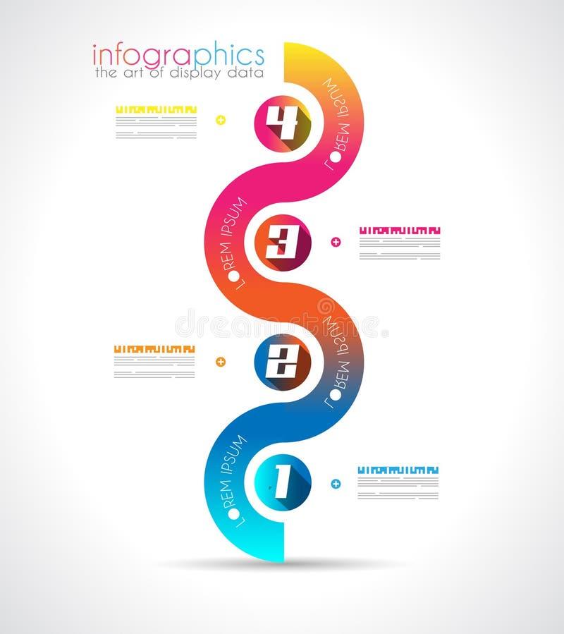 Πρότυπο σχεδίου Infographic με το σύγχρονο επίπεδο ύφος. ελεύθερη απεικόνιση δικαιώματος